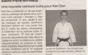 OUEST FRANCE - 02 AVRIL 2010 - SHODAN - SAINT MICHEL CHEF CHEF