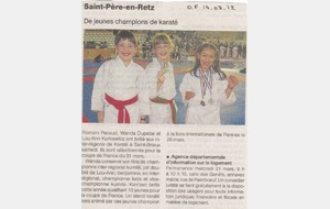 OUEST FRANCE - 14 MARS 2012 - CHAMPIONNAT INTER REGION - SAINT BRIEUX