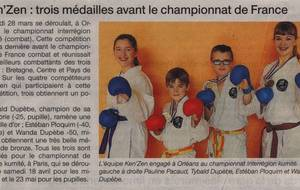 OUEST FRANCE - 03 AVRIL 2015 - INTER REGIONS KUMITE - ORLEANS
