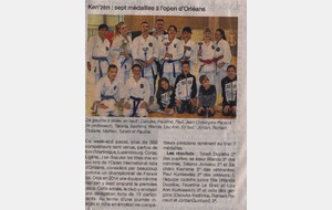 OUEST FRANCE - 27 MAI 2015 - OPEN NATIONAL KATA - ORLEANS