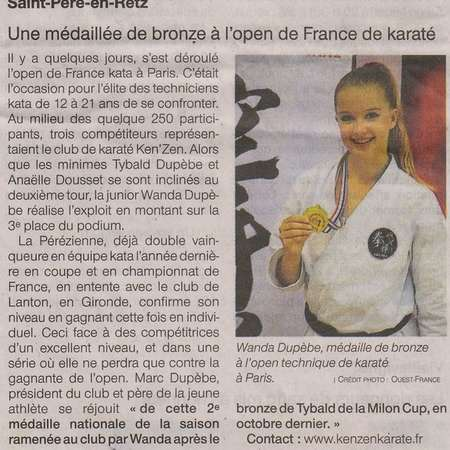 OUEST FRANCE - 01 FEVRIER 2019 - OPEN DE FRANCE - PARIS