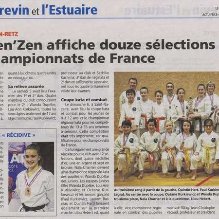 COURRIER DU PAYS DE RETZ - 01 FEVRIER 2019 - OPEN DE FRANCE - PARIS